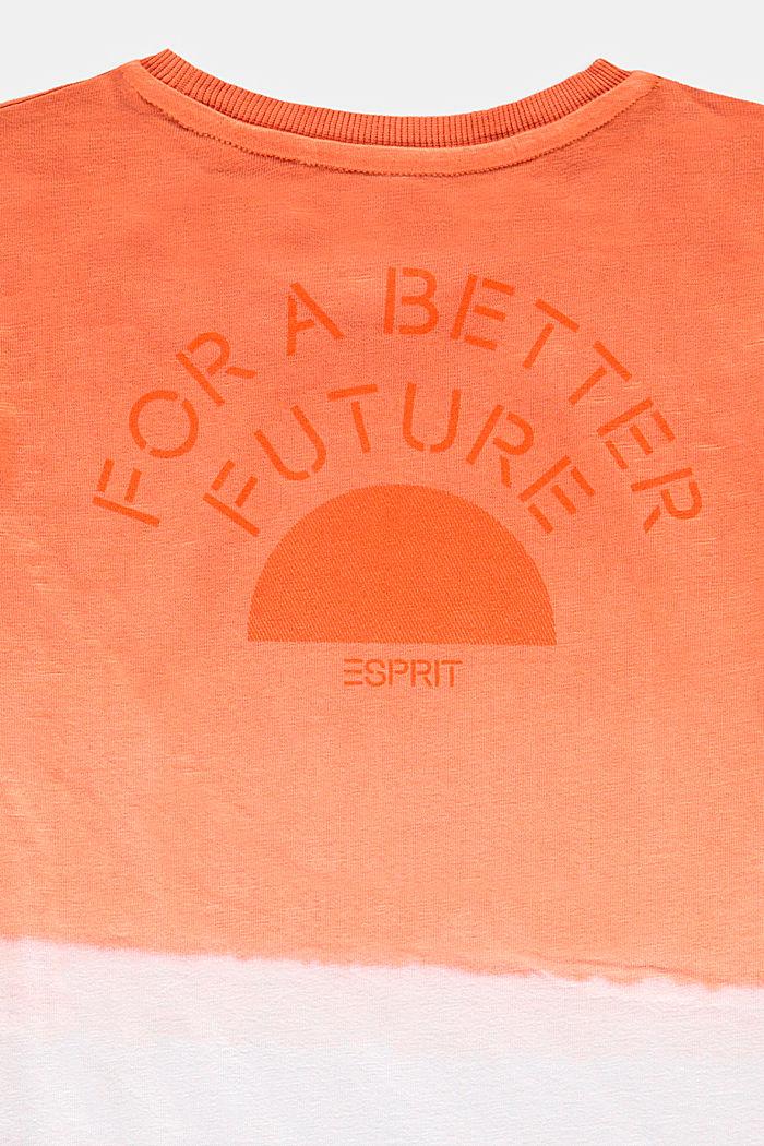 Dip-dye T-shirt, 100% cotton, RED ORANGE, detail image number 2