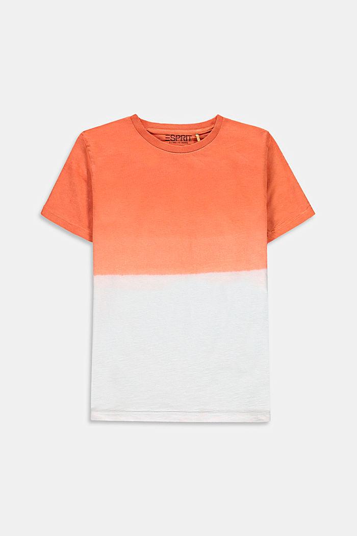 Dip-dye T-shirt, 100% cotton, RED ORANGE, detail image number 0