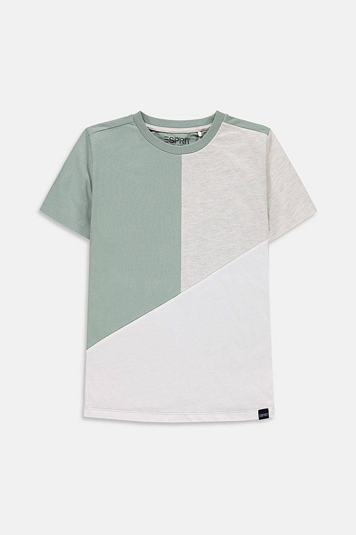 T-Shirt mit Color Block, 100% Baumwolle
