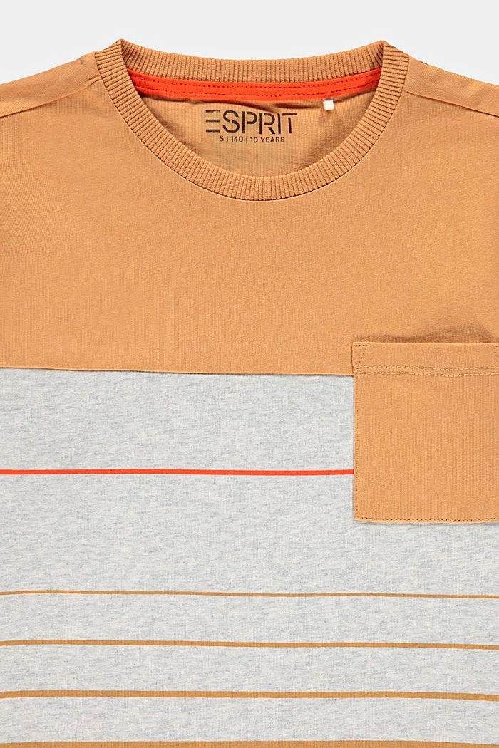 Camiseta en bloques de color en 100% algodón, SILVER, detail image number 2