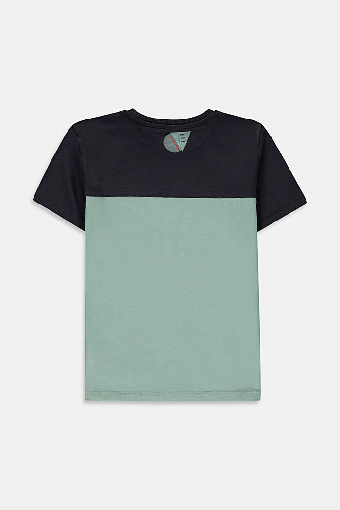Color Block T-Shirt aus 100% Baumwolle