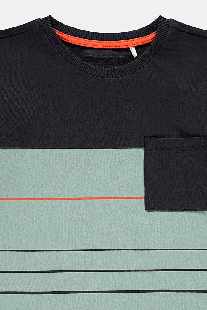 Camiseta en bloques de color en 100% algodón, LIGHT KHAKI, detail image number 2