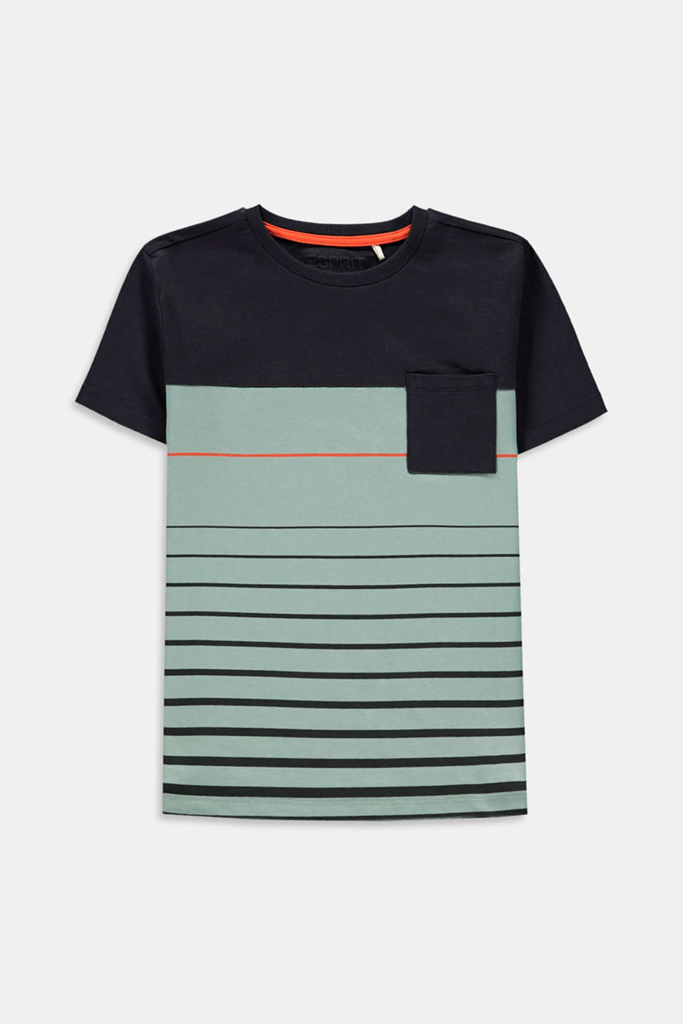 Esprit - T shirt colour blocking, 100 % coton