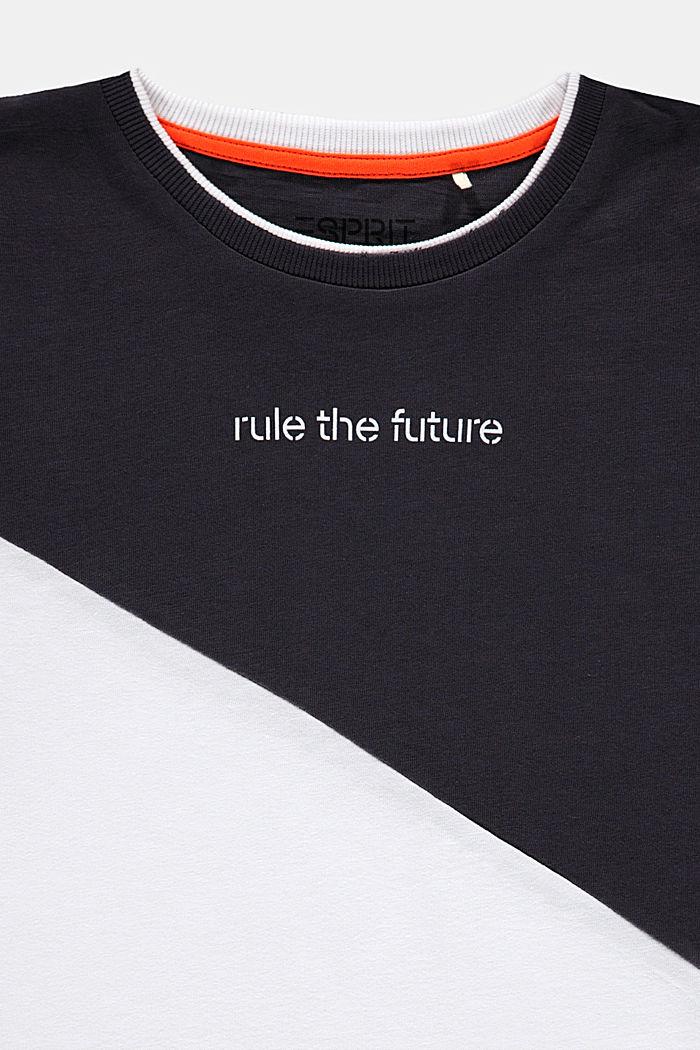 T-shirt oversize à effet colour blocking, WHITE, detail image number 2
