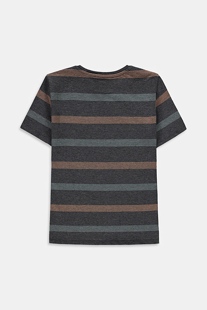 Striped T-shirt in 100% cotton, DARK GREY, detail image number 1