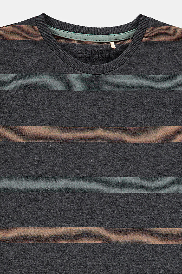 Striped T-shirt in 100% cotton, DARK GREY, detail image number 2