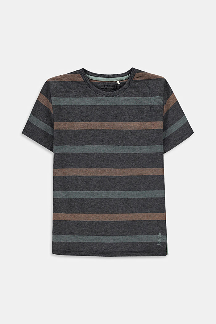 Striped T-shirt in 100% cotton, DARK GREY, detail image number 0