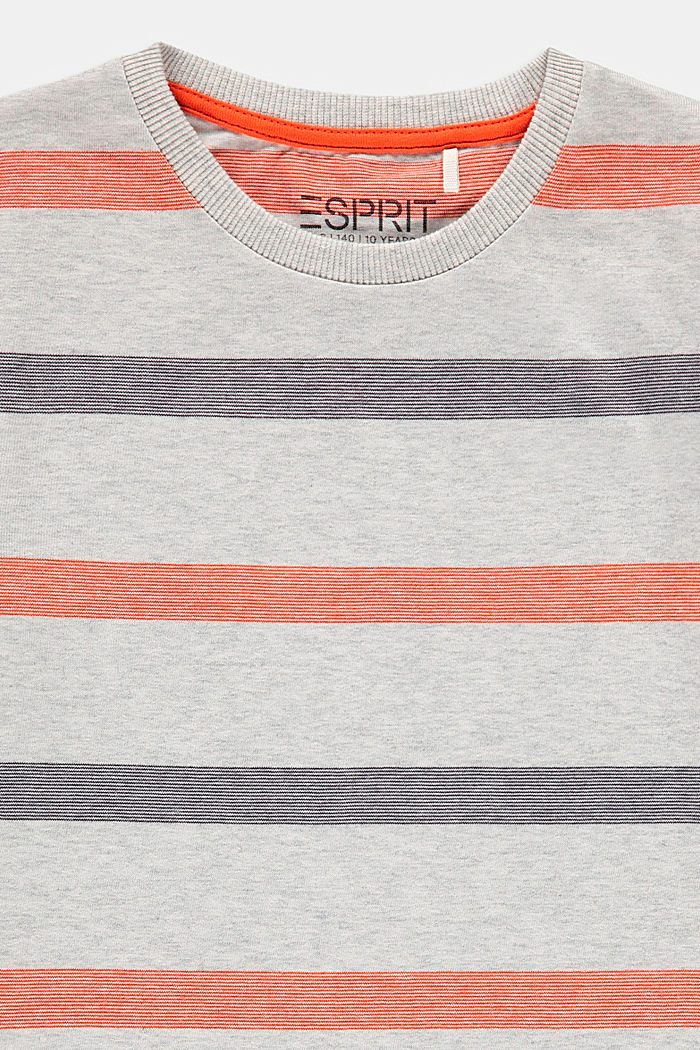 Striped T-shirt in 100% cotton, SILVER, detail image number 2
