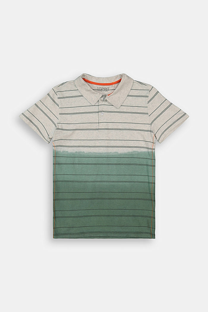 Jersey polo shirt in a dip-dye look