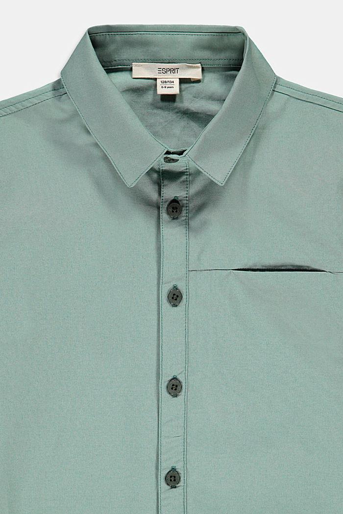 Overhemd met korte mouwen, van katoen-popeline, LIGHT KHAKI, detail image number 2