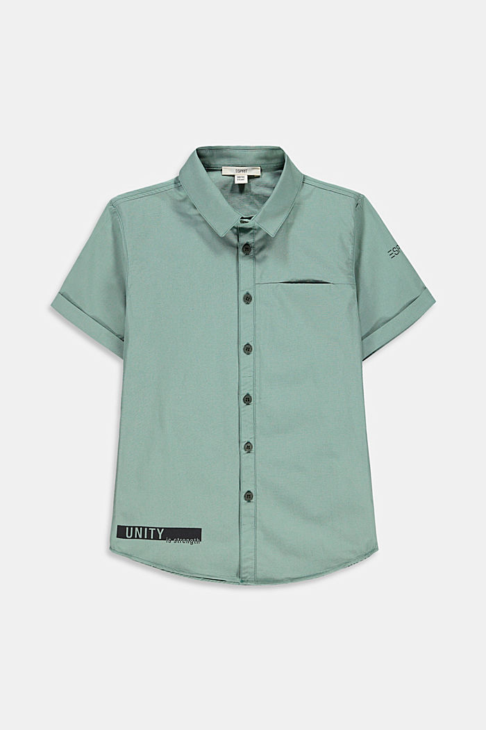 Short-sleeved shirt made of cotton poplin