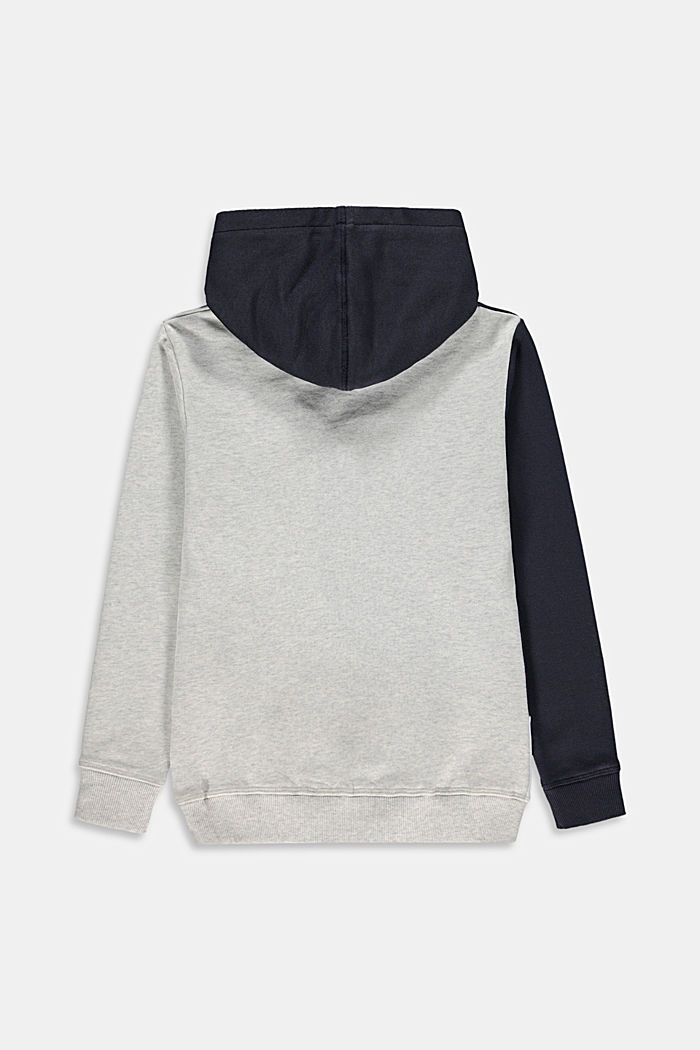 Colour block sweatshirt hoodie, 100% cotton