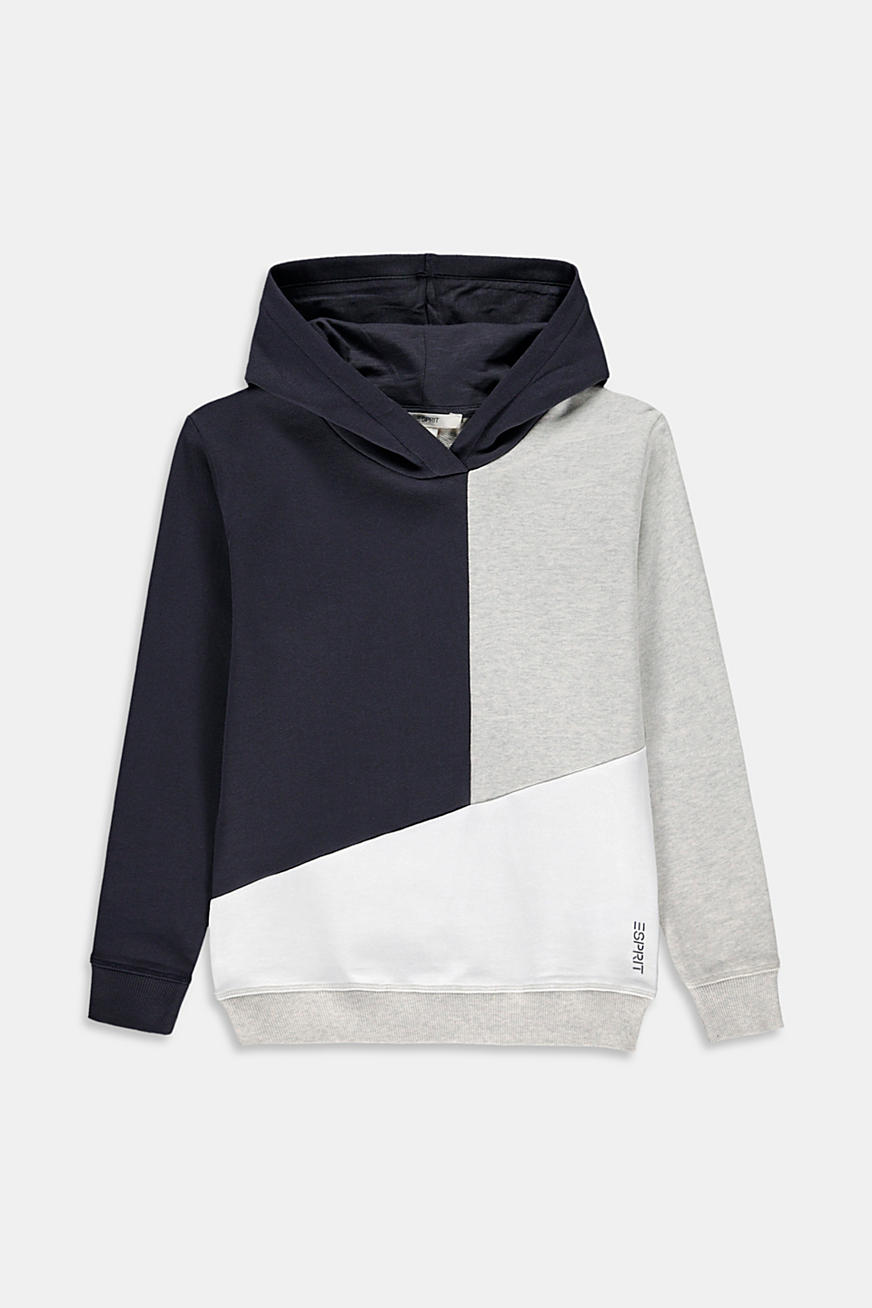 Color Block Sweat-Hoodie, 100% Baumwolle