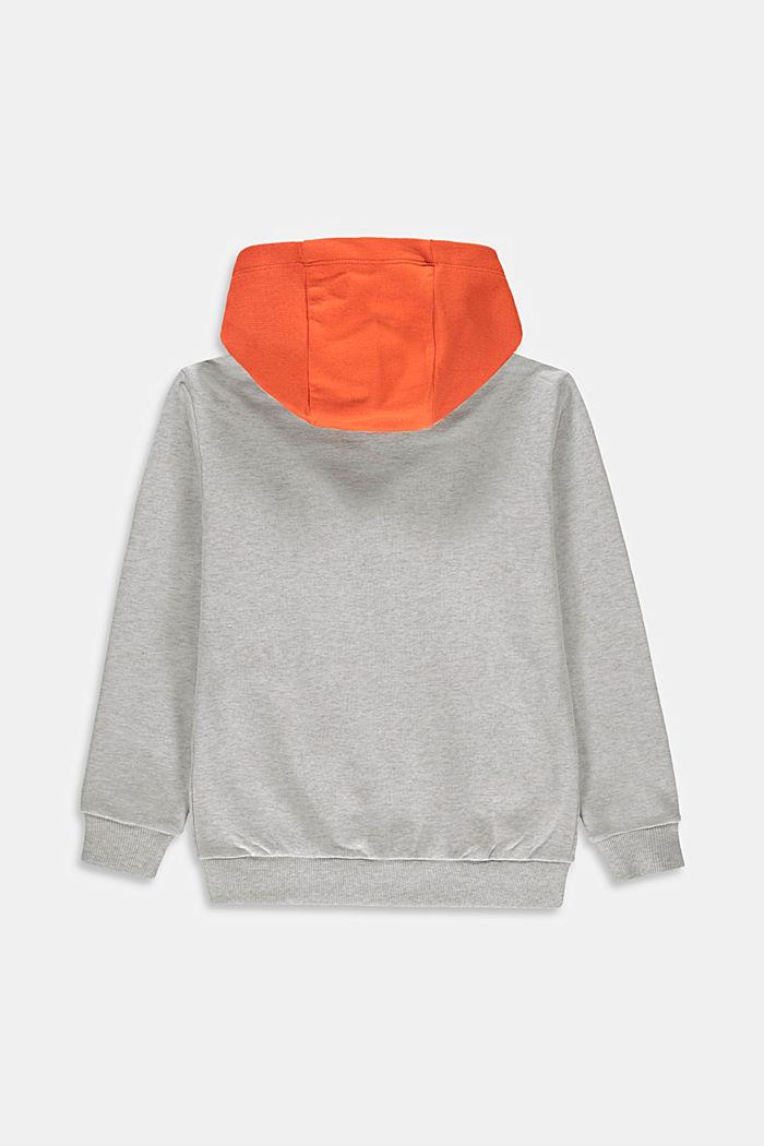 Sweatjacke mit Color Block, 100% Baumwolle