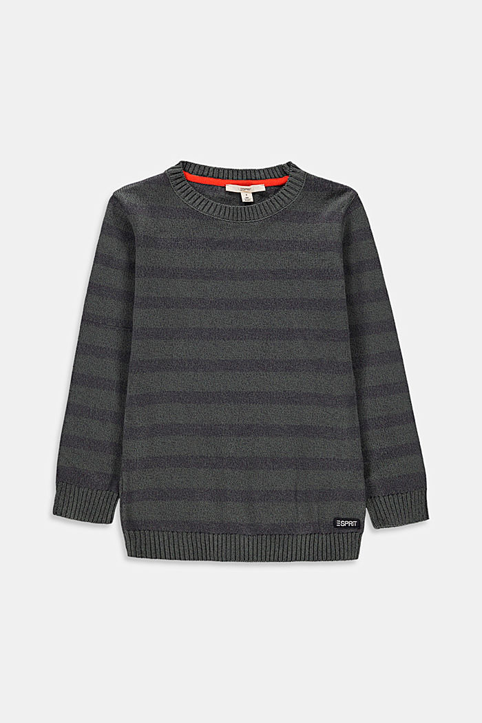 Pull-over rayé, 100 % coton