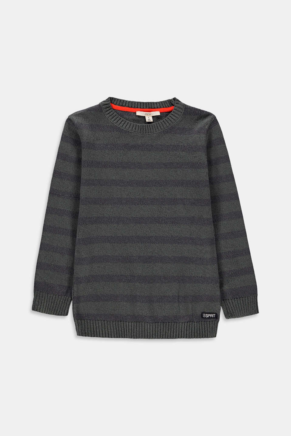 Esprit - Pull-over rayé, 100 % coton