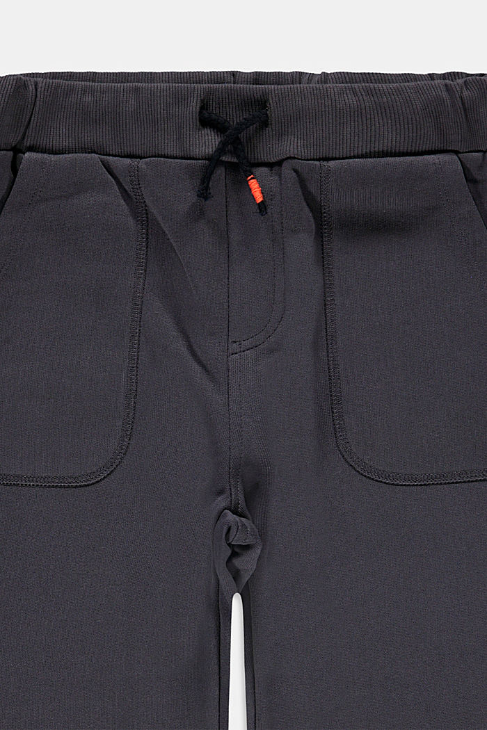 Tracksuit bottoms in 100% cotton, DARK GREY, detail image number 2