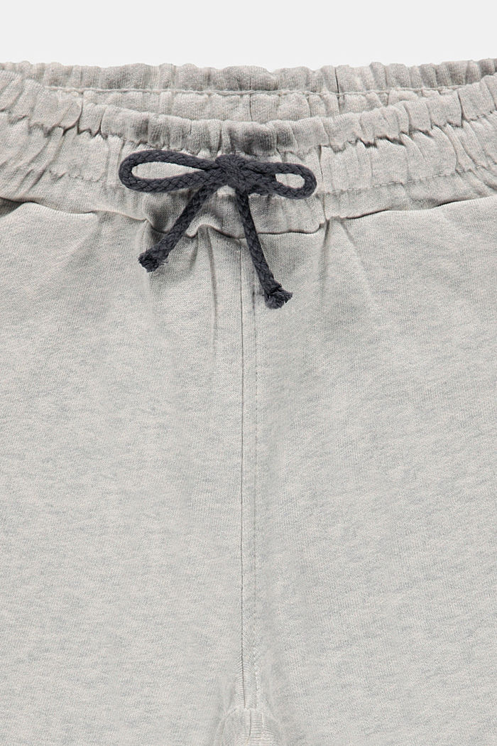 Sweatshirt shorts in 100% cotton, SILVER, detail image number 2