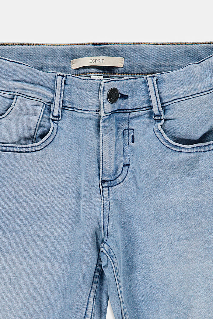Denim shorts with an adjustable waistband, BLUE BLEACHED, detail image number 2