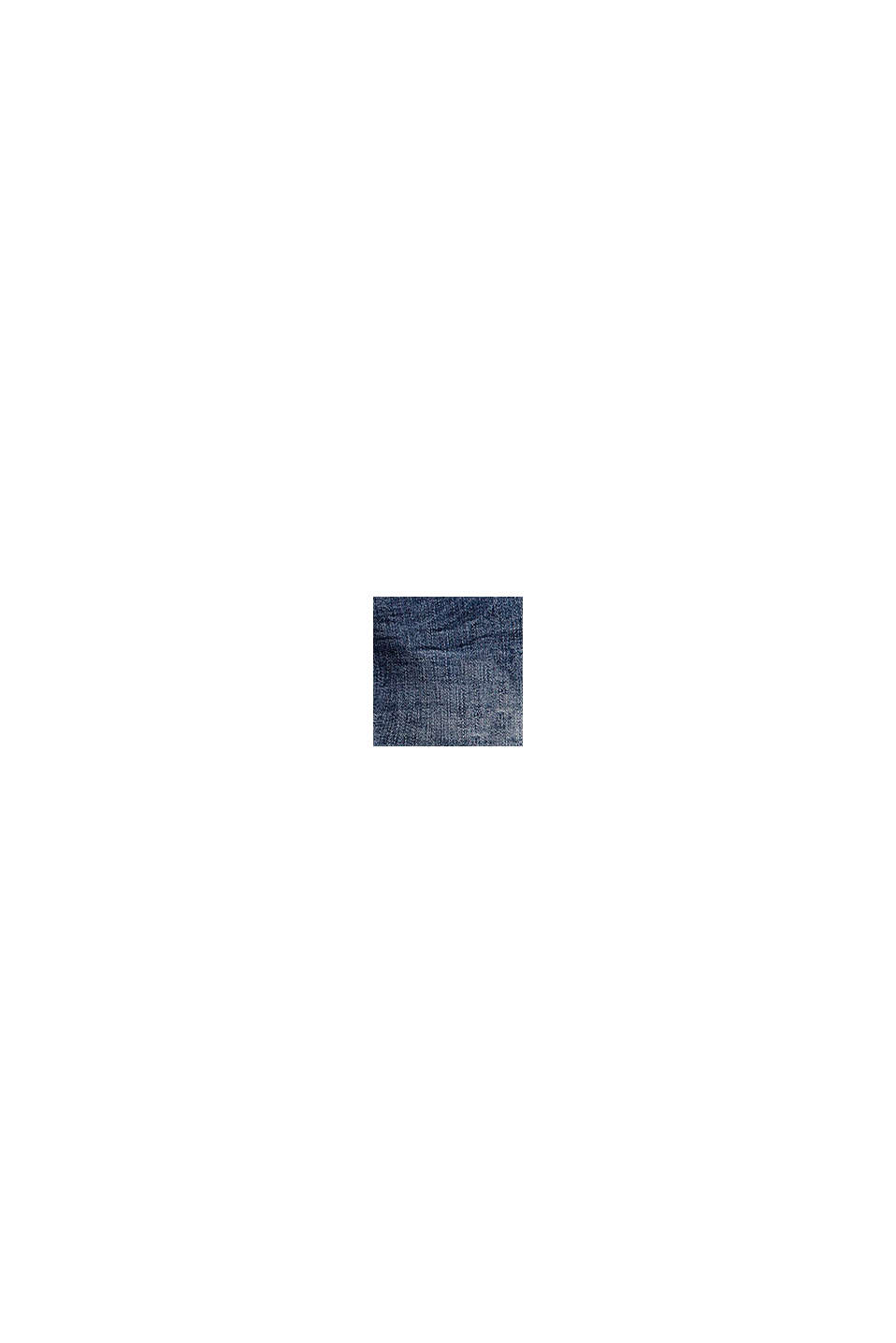 Shorts vaqueros con efecto desgastado y cintura ajustable, BLUE MEDIUM WASHED, swatch