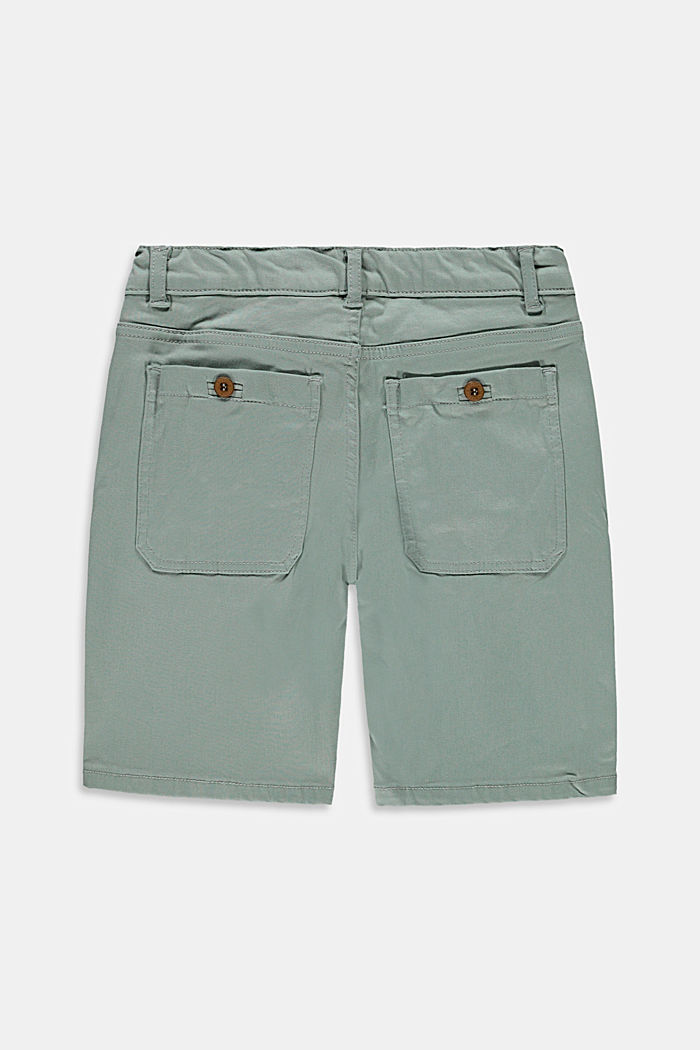 Chino-style shorts with an adjustable waistband, LIGHT KHAKI, detail image number 1