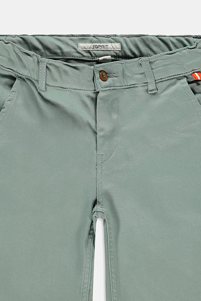 Chino-style shorts with an adjustable waistband, LIGHT KHAKI, detail image number 2