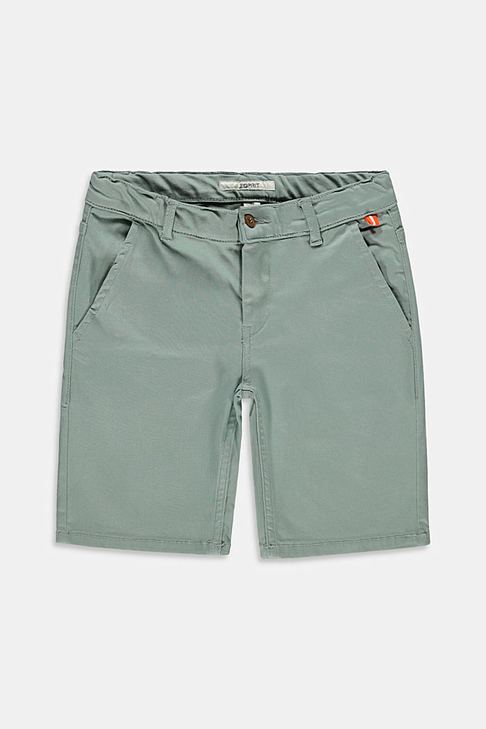 Chino-style shorts with an adjustable waistband, LIGHT KHAKI, detail image number 0