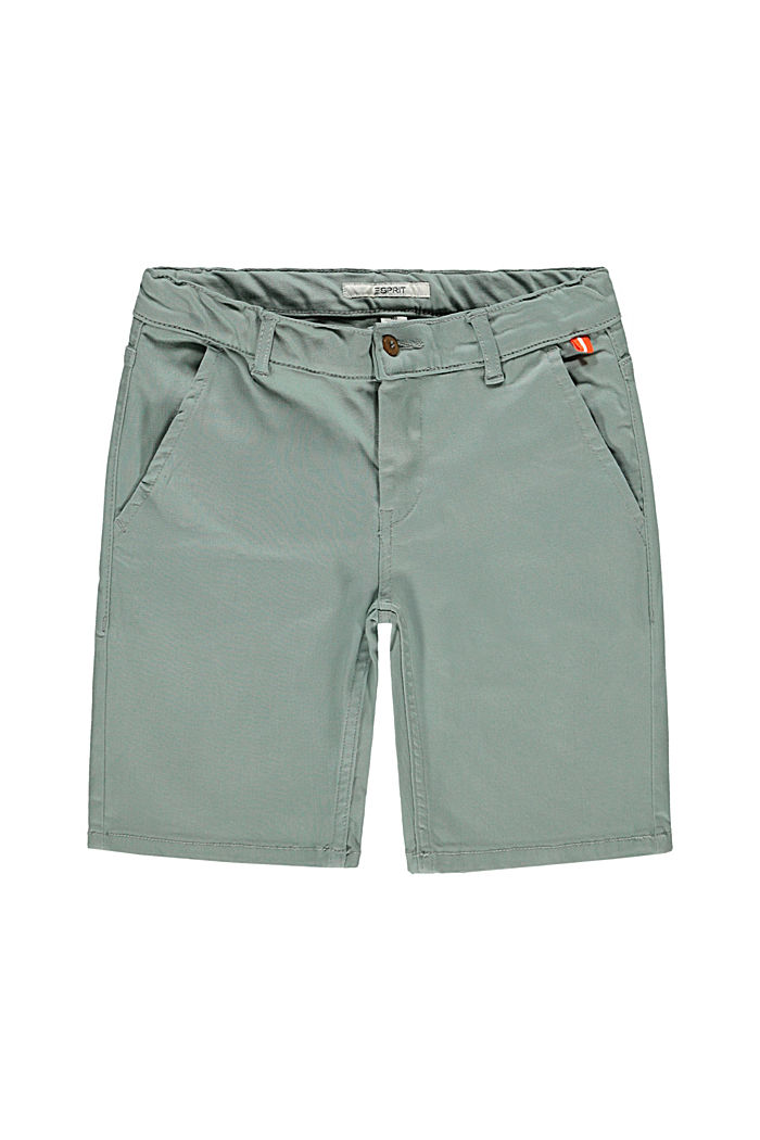 Chino-style shorts with an adjustable waistband, LIGHT KHAKI, detail image number 3