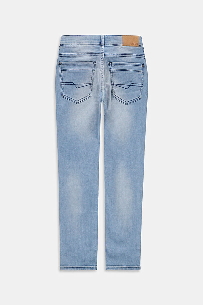 Jeans with a practical adjustable waistband