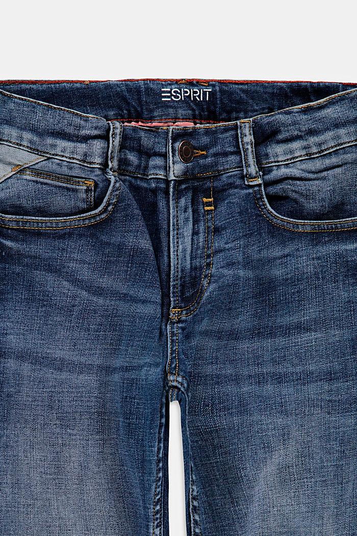 Casual jeans met verstelbare band, BLUE MEDIUM WASHED, detail image number 2