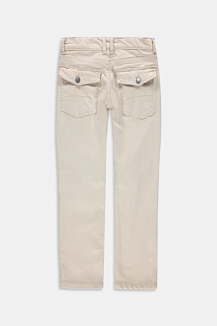 Worker-style jeans with adjustable waistband