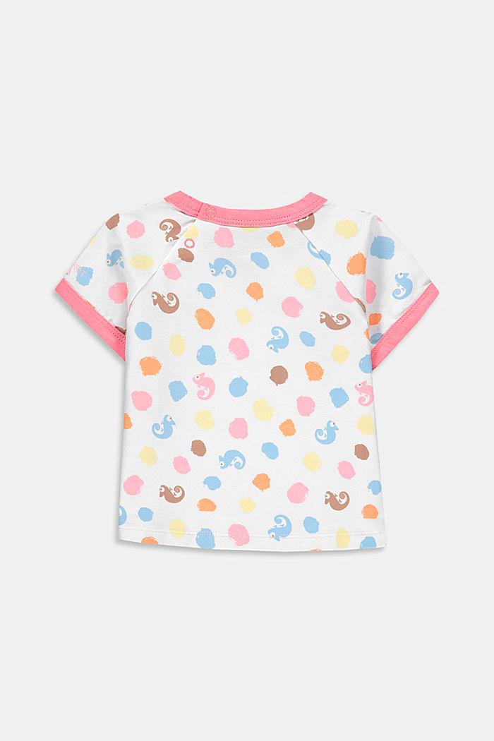 T-shirt orné d´un imprimé, coton biologique, NEW WHITE, detail image number 1