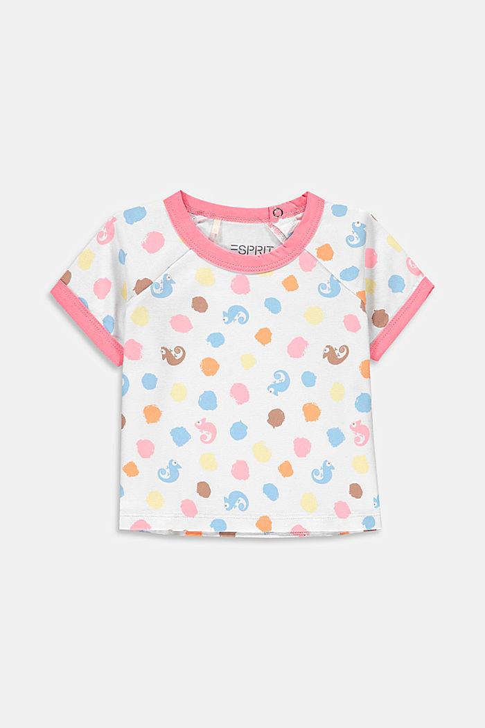 T-shirt orné d´un imprimé, coton biologique, NEW WHITE, detail image number 0