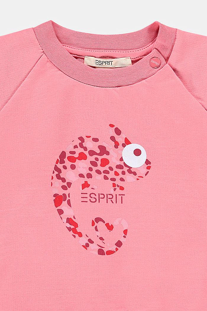 Sweatshirt met print, 100% biologisch katoen, PEACH, detail image number 2