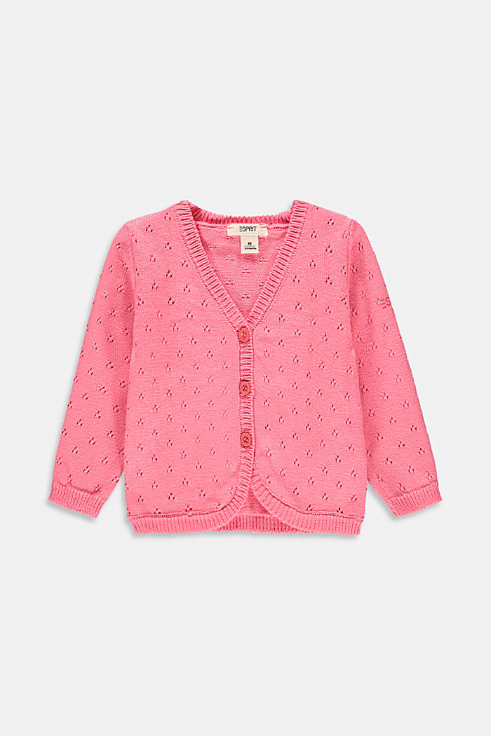 Openwork cardigan made of 100% organic cotton