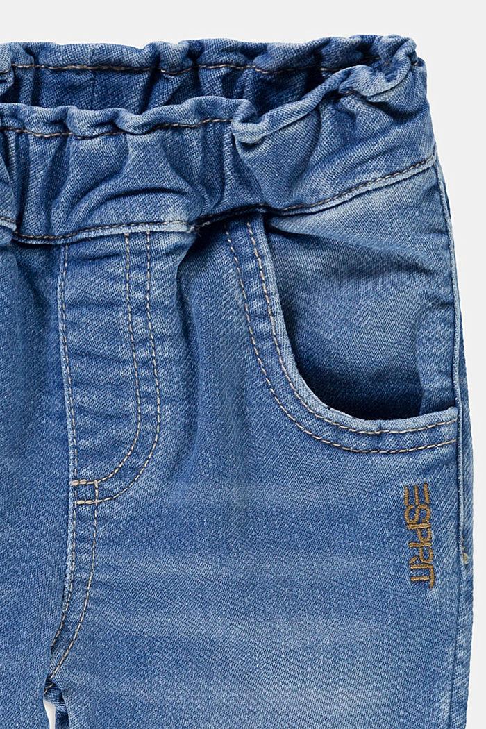Jean en matière jogging confortable, BLUE BLEACHED, detail image number 2