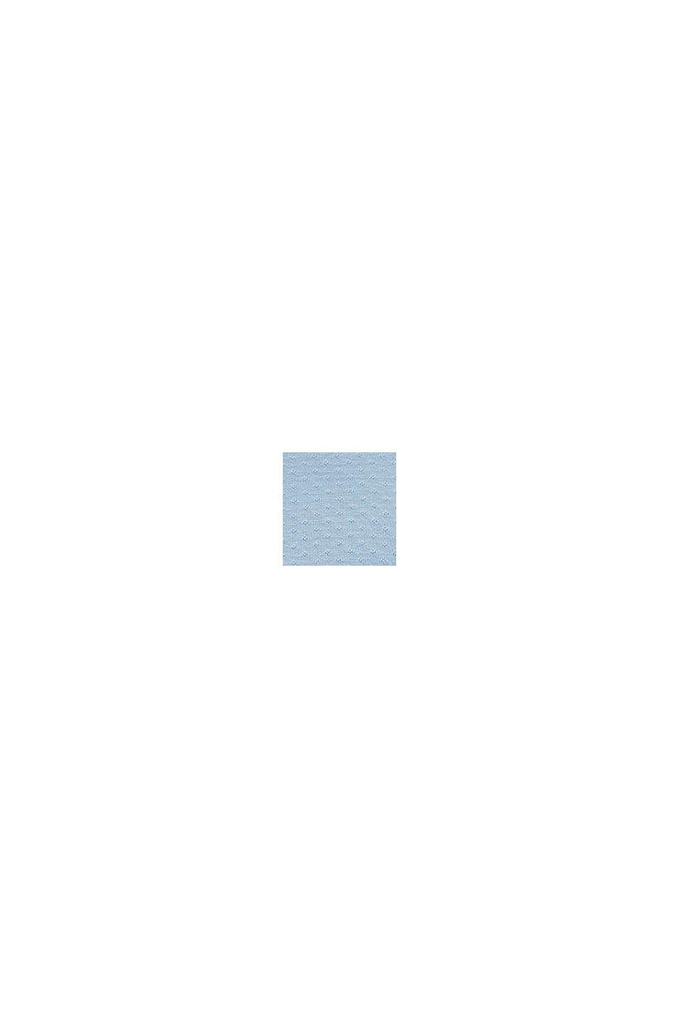 Combinaison à manches à ailettes, coton biologique mélangé, BLUE LAVENDER, swatch