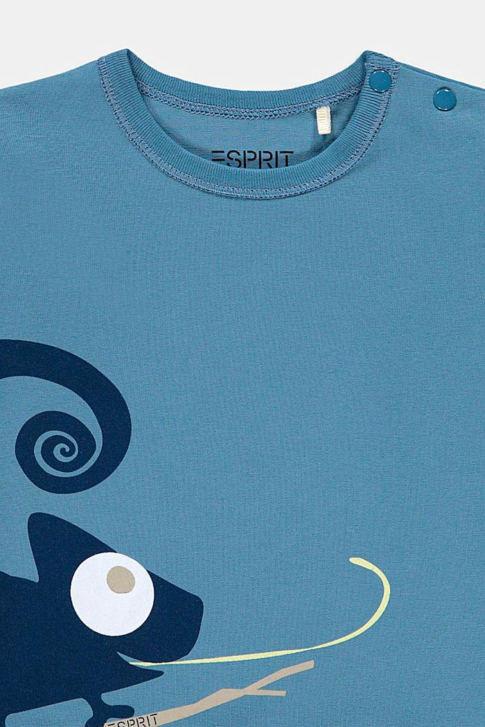 Longsleeve met kameleonprint: biologisch katoen, GREY BLUE, detail image number 2