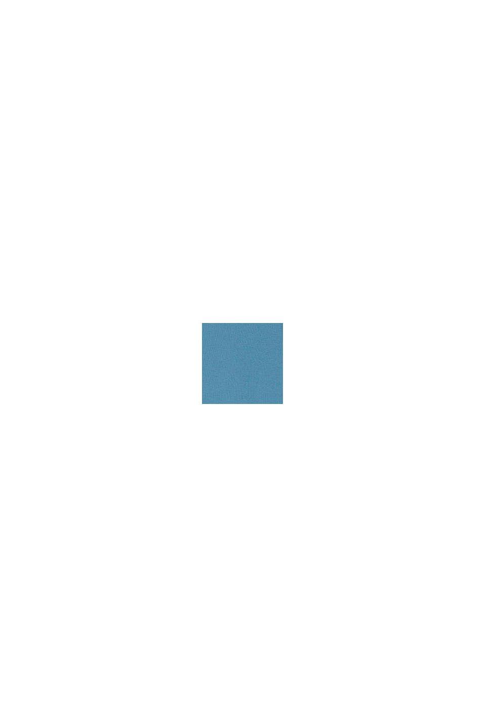 Longsleeve met kameleonprint: biologisch katoen, GREY BLUE, swatch