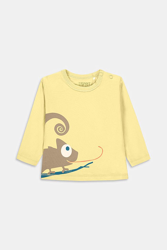 T-shirt à manches longues et imprimé caméléon, coton biologique