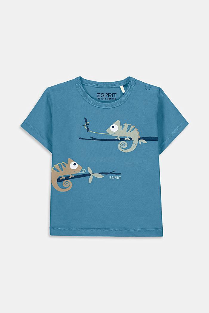 T-shirt with chameleon print