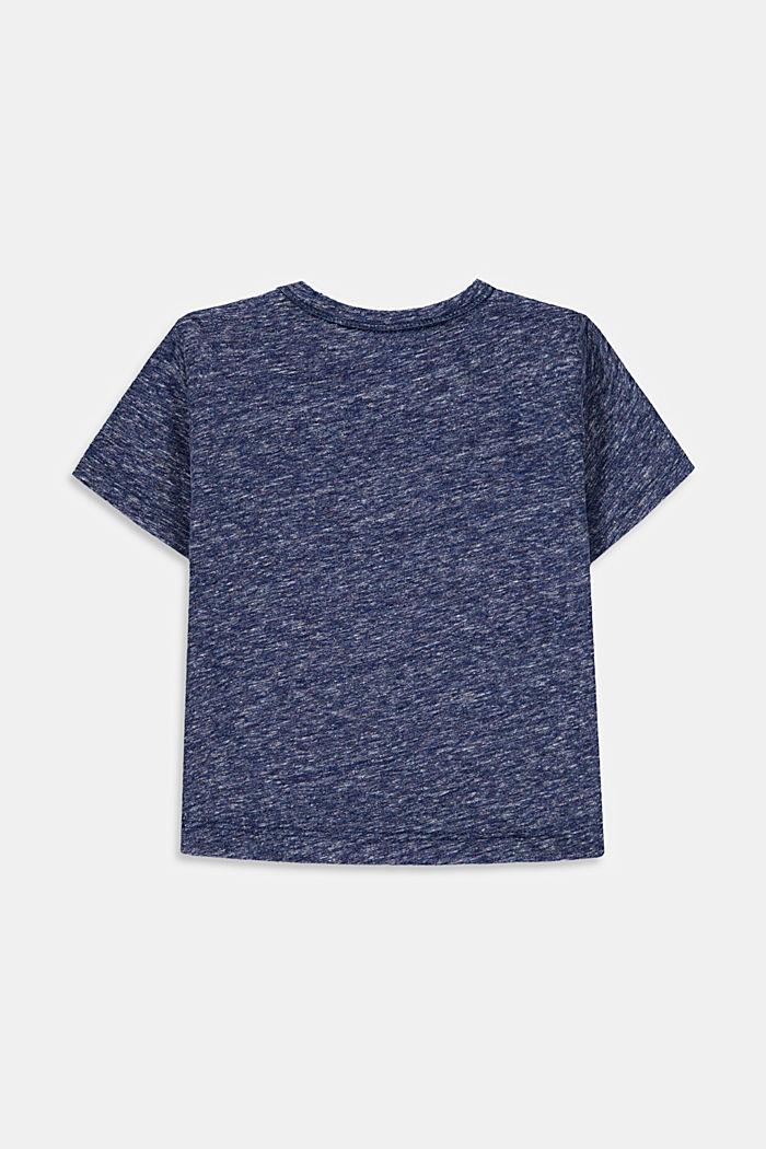 T-shirt melangiata con stampa di cactus, PETROL BLUE, detail image number 1