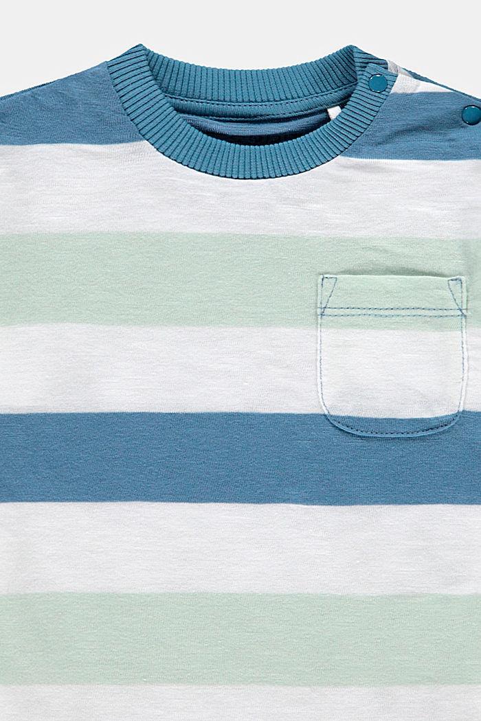 Raidallinen T-paita, luomupuuvillaa, GREY BLUE, detail image number 2