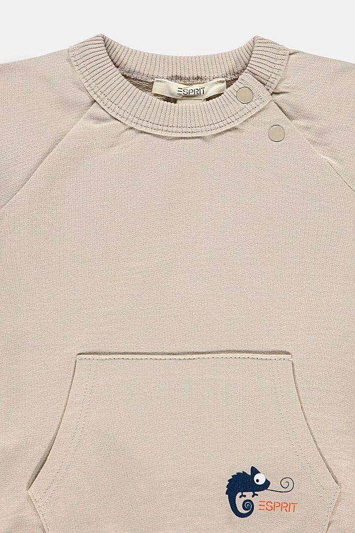 Sweatshirt met print, 100% biologisch katoen, SILVER, detail image number 2