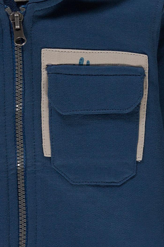 Zipp-Hoodie aus 100% Bio-Baumwolle, PETROL BLUE, detail image number 2