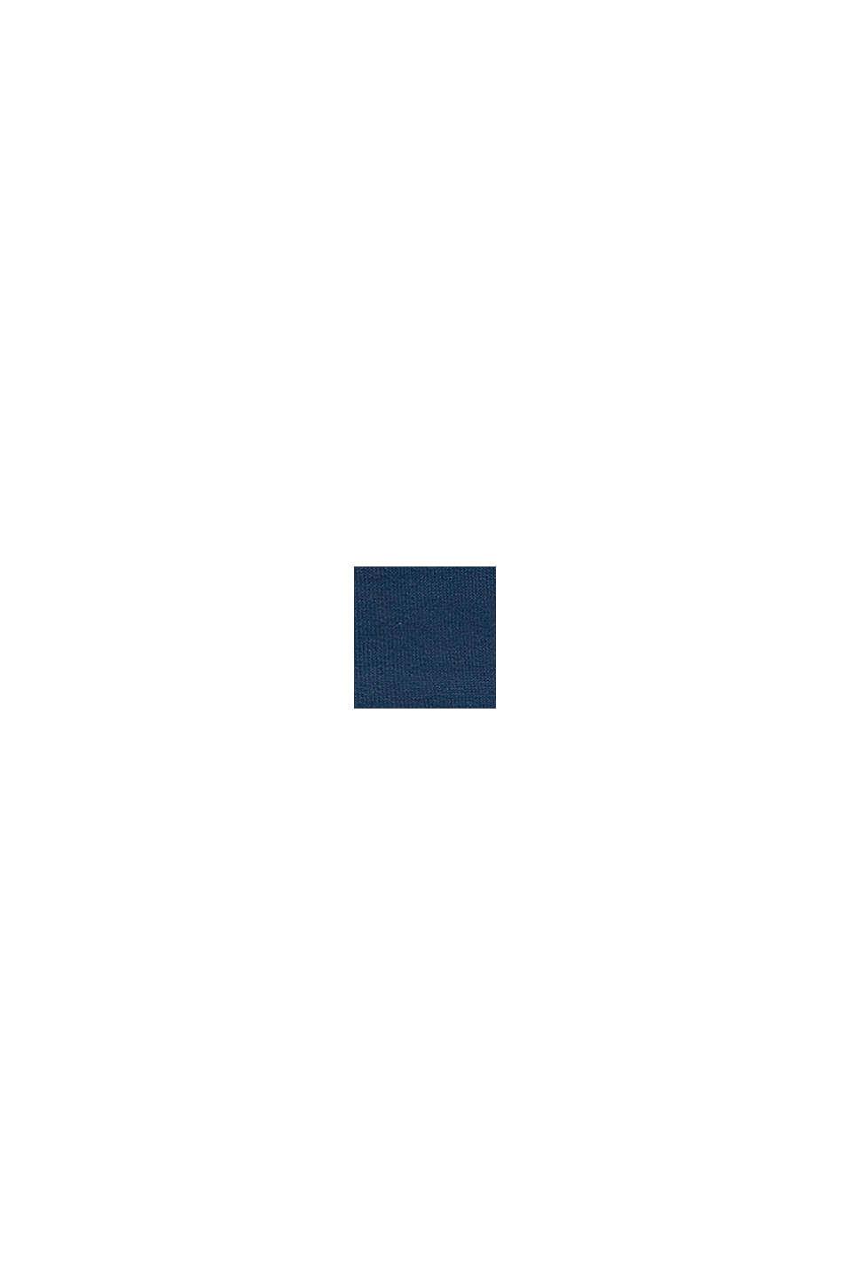 Sweat zippé à capuche, 100% coton biologique, PETROL BLUE, swatch
