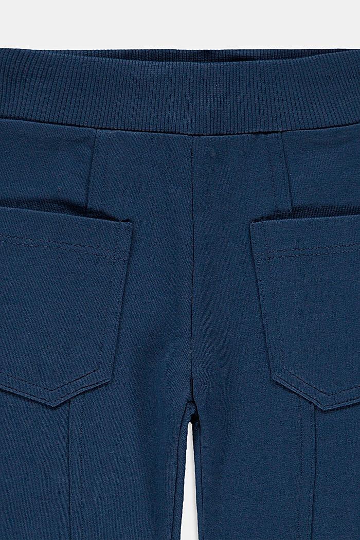 Sweathose aus 100% Bio-Baumwolle, PETROL BLUE, detail image number 2