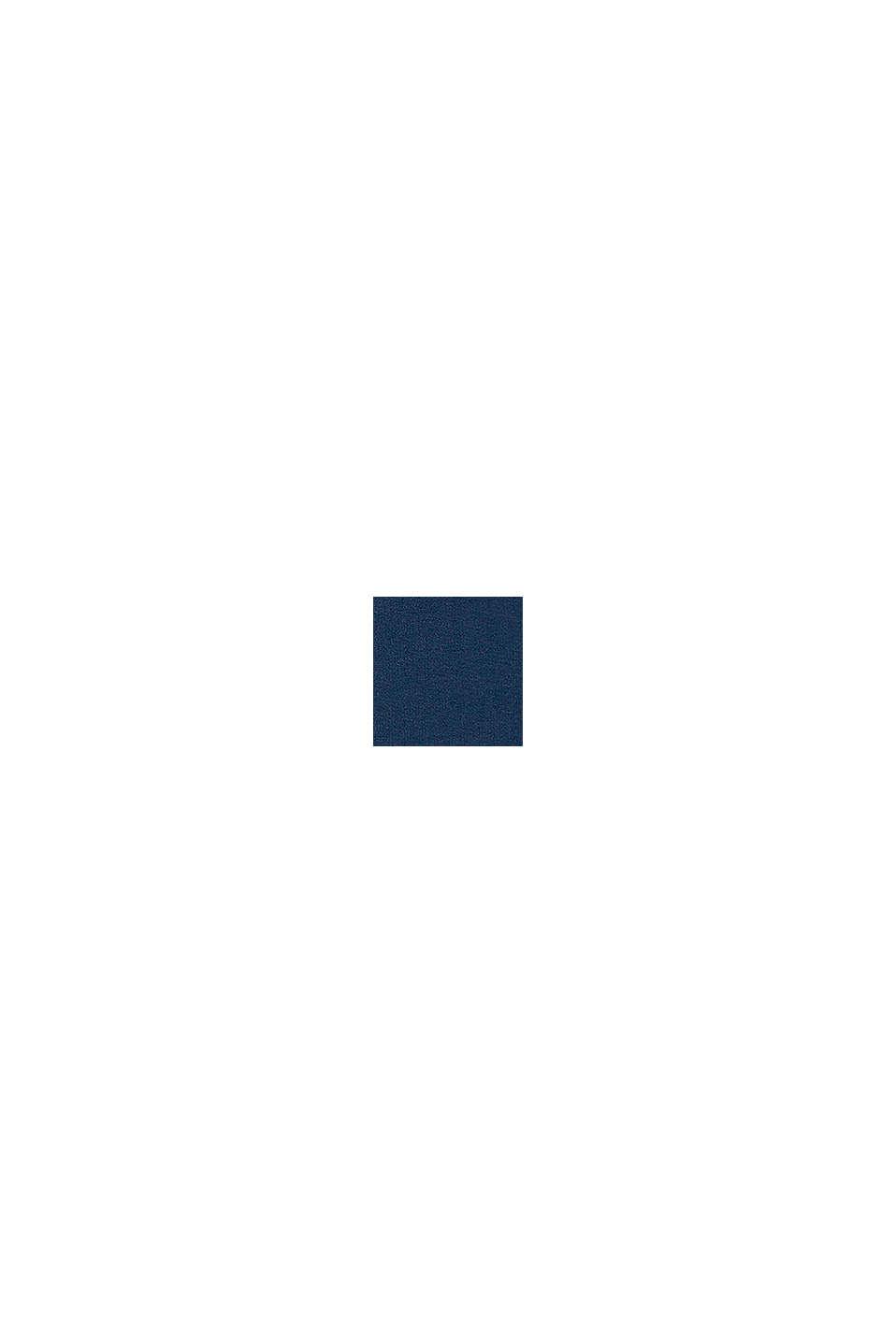 Pantalon molletonné, 100% coton biologique, PETROL BLUE, swatch