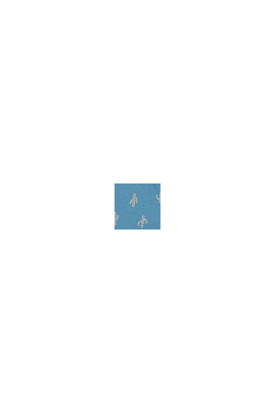 Short en jersey à imprimé cactus, coton biologique, GREY BLUE, swatch