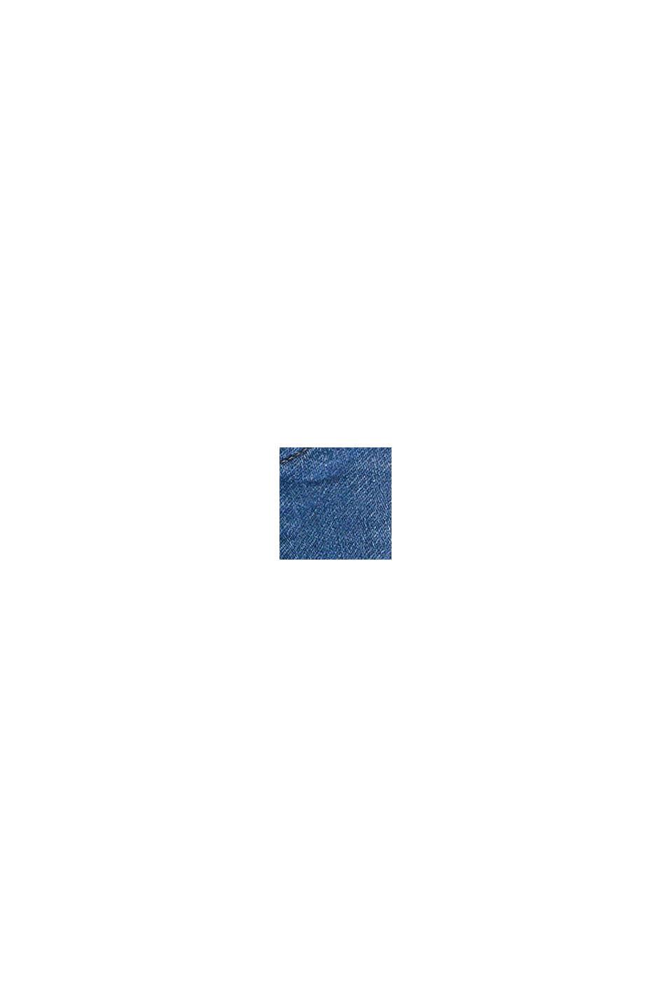 Short en jean, en molleton au look denim confortable, BLUE BLEACHED, swatch